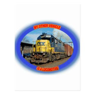 CSX機関車 ポストカード