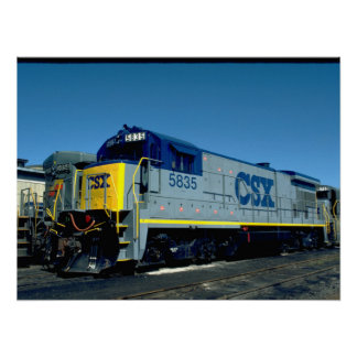 CSX GE B36-7 #5835、1990_Trains ポスター