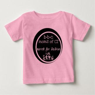 CT -ベビーのための3月のBBCのお母さん ベビーTシャツ