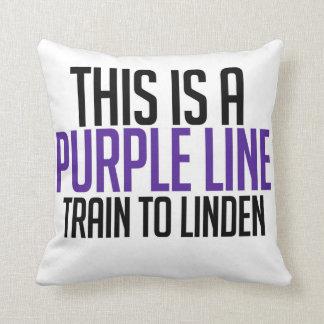 CTAの紫色ライン枕 クッション