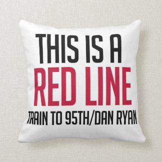 CTAの赤線枕 クッション
