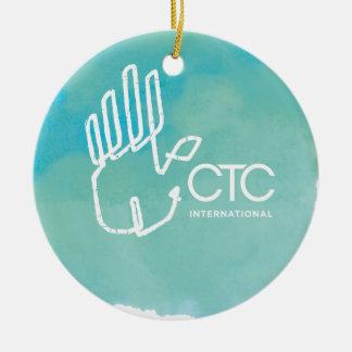 CTCインターナショナル-青 セラミックオーナメント