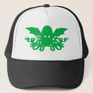 Cthulhuのトラック運転手の帽子-緑 キャップ