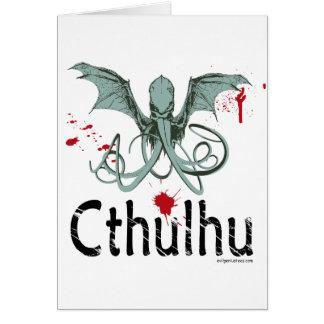 Cthulhuの恐怖ベクトル芸術 カード