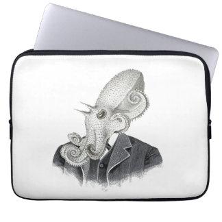 Cthulhuの紳士のヴィンテージの絵のラップトップの箱 ラップトップスリーブ