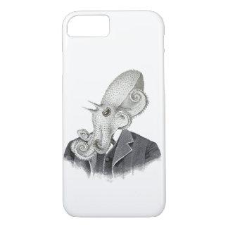 Cthulhuの紳士のヴィンテージの絵の電話箱 iPhone 8/7ケース