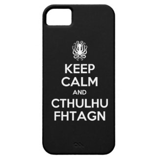 CthulhuのKeep Calm and Carry OnのiPhone 5の場合 iPhone SE/5/5s ケース