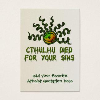 Cthulhuは死にました 名刺