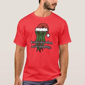 Cthuluのクリスマス(赤い2xl) Tシャツ
