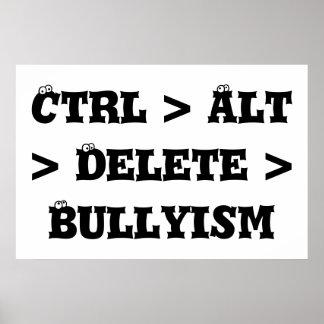 Ctrl > Alt >削除> Bullyism -反いじめっ子 ポスター