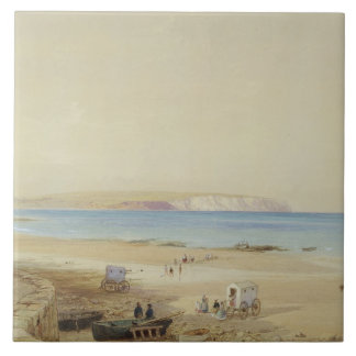 Culverの崖、人間の島(w/c、ペン及びインクのbodyc タイル