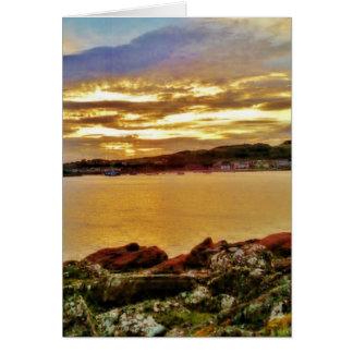 Cumbraeの日没の島 カード