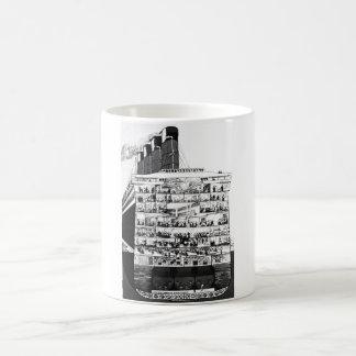 Cunarderの横断面 コーヒーマグカップ