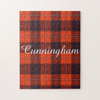 Cunninghamの一族の格子縞のスコットランド人のタータンチェック ジグソーパズル