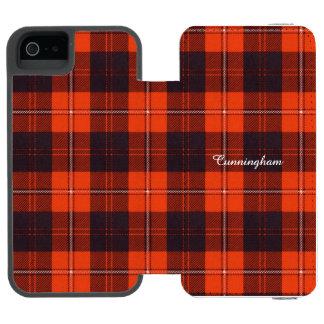 Cunninghamの一族の格子縞のスコットランド人のタータンチェック iPhone SE/5/5sウォレットケース