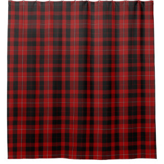 Cunningham Black and Red Tartan Shower Curtain シャワーカーテン