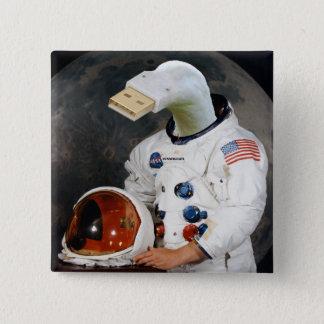 Cunningulen宇宙飛行士 5.1cm 正方形バッジ