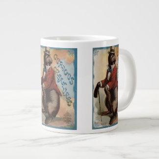 Cureousの創造物のセイウチ ジャンボコーヒーマグカップ