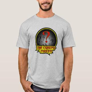 Curiosoのポッドキャストのロゴのワイシャツ Tシャツ