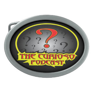 CuriosoのポッドキャストのロゴBeltbuckle 卵形バックル