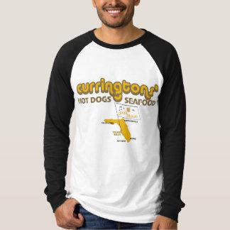 Curringtonsのホットドッグおよびシーフード Tシャツ