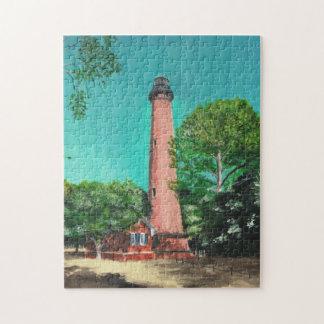 Currituckのビーチの灯台パズル ジグソーパズル