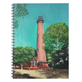 Currituckのビーチの灯台写真のノート ノートブック