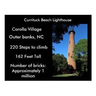 Currituckのビーチの灯台 ポストカード