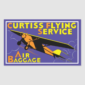 Curtissの飛んでいるなサービス 長方形シール