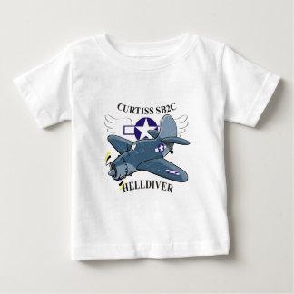 curtiss sb2cのhelldiver ベビーTシャツ