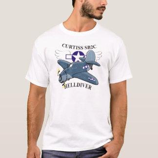 curtiss sb2cのhelldiver tシャツ