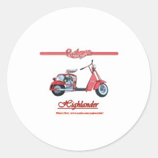 Cushmanの高地居住者のスクーター ラウンドシール