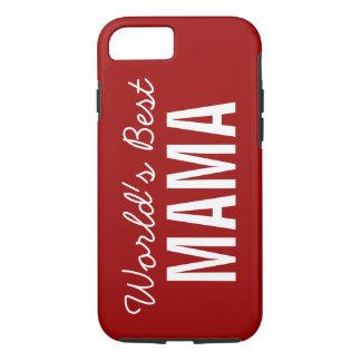 Custom赤い世界で最も最高のなママのiPhone 7の場合 iPhone 8/7ケース