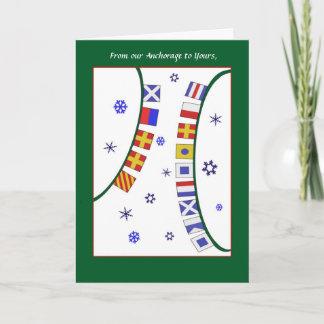 Custom GreetingNautical Signal Flag Christmas Card