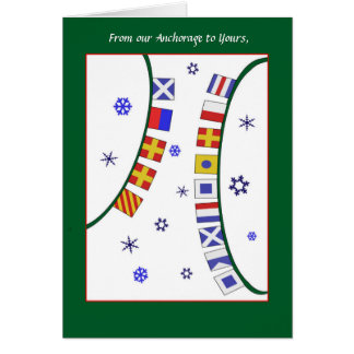 Custom GreetingNautical Signal Flag Christmas Card カード