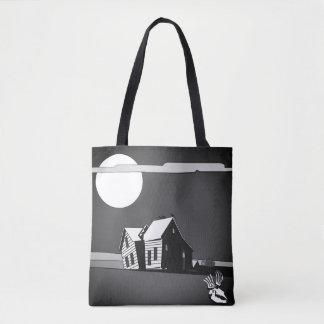 Custom Haunted House Trick-or-Treat トートバッグ