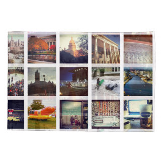 Custom Instagram Photo Collage Pillow Case 枕カバー