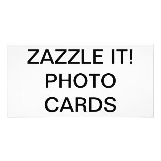 "Custom Personalized 8"" x 4"" Photo Card Blank カード"