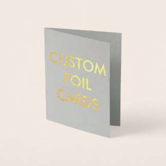 Custom Personalized Gold Foil Greeting Card 箔カード
