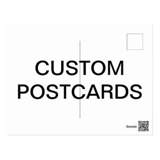 Custom Personalized Photo Postcard Blank Template ポストカード