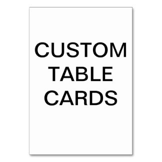 Custom Personalized Table Card Blank Template カード