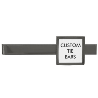 Custom Personalized Tie Bar Blank Template ガンメタル タイバー