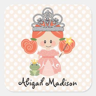 Custom Redhead Princess Frog Sticker スクエアシール