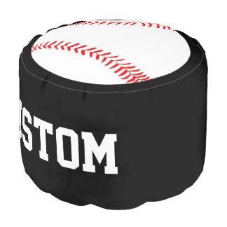 Custom Text Baseball Player Round Pouf Beanbag プーフ