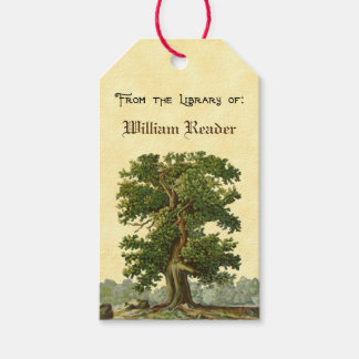 Custom Vintage Oak Tree Bookplate Tag ギフトタグ