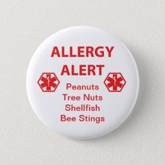 Customizable Allergy Alert Button 5.7cm 丸型バッジ