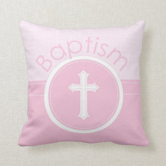 Customizable, Pink Girl Child of God Baptism クッション