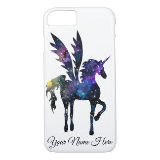 Customizable Unicorn Pegasus Watercolor Space Case iPhone 8/7ケース