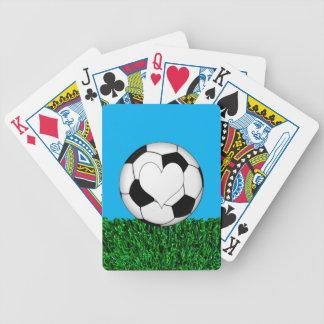 customizeableハートのサッカーボール バイスクルトランプ