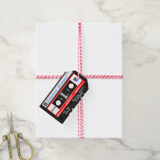 Customized Cassette Tape Birth or Any Day Blanket ギフトタグ